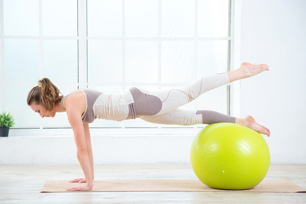stability ball organize for weight loss success