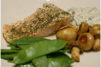 Grilled Salmon with Olive Sauce- Low GI Recipes
