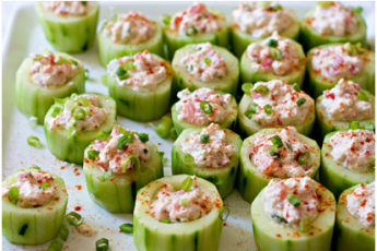Weekly Recipes: Spicy Crab Cucumber Cups