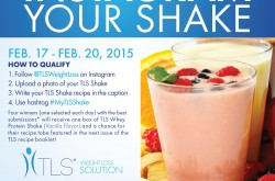 Instagram Your Shake and Win Free TLS® Products!
