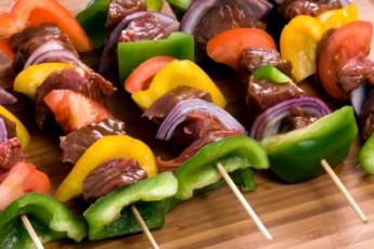 Recipe: Beef & Veggie Skewers