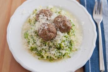 Recipe: Zucchini Spaghetti & Meatballs